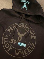 59 North Wheels - Bluza z kapturem