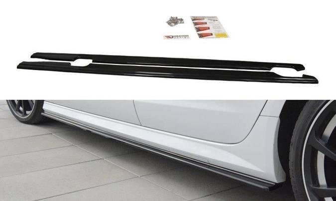 Dokładki progów Maxton Audi A6 C7 S-Line/ S6 C7 Polift (czarny połysk)