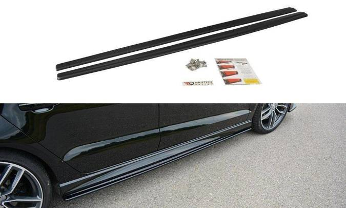 Dokładki progów Maxton Audi S3 / A3 S-Line 8V / 8V FL Sedan (czarny połysk)