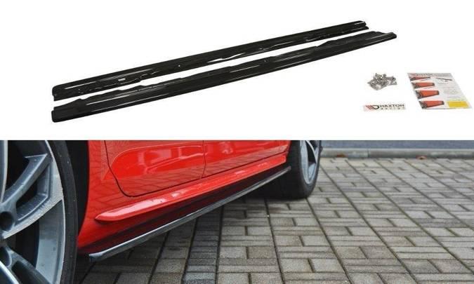 Dokładki progów Maxton Audi S4 / A4 S-Line B9 (czarny mat)