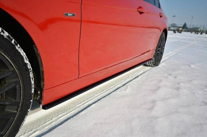 Dokładki progów Maxton BMW 3 F30 (czarny połysk)