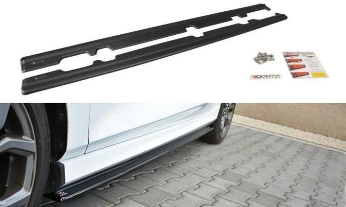Dokładki progów Maxton Ford Fiesta MK8 ST/ ST-Line (czarny połysk)