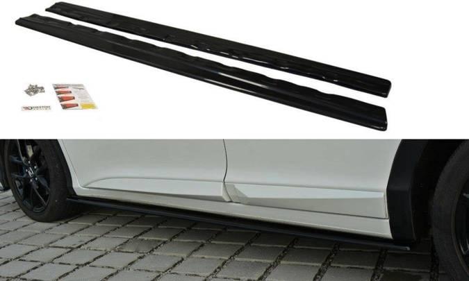 Dokładki progów Maxton Honda Civic MK9 Polift (czarny mat)