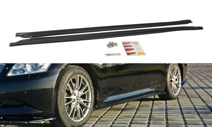 Dokładki progów Maxton Infiniti G37 Sedan (carbon look)