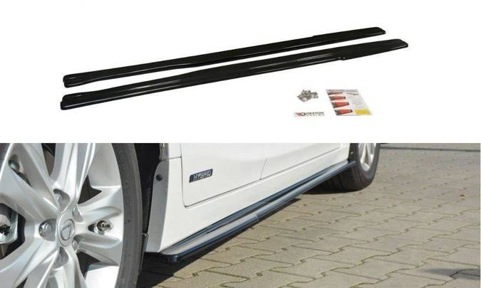 Dokładki progów Maxton Lexus CT MK1 Polift (carbon look)