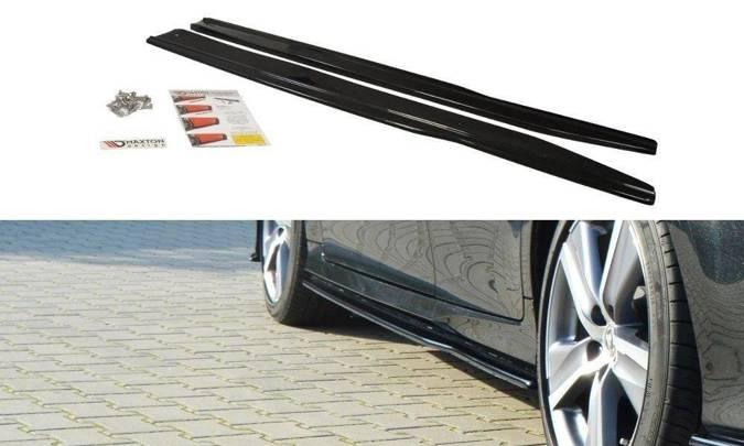 Dokładki progów Maxton Lexus GS MK4 Polift (czarny połysk)
