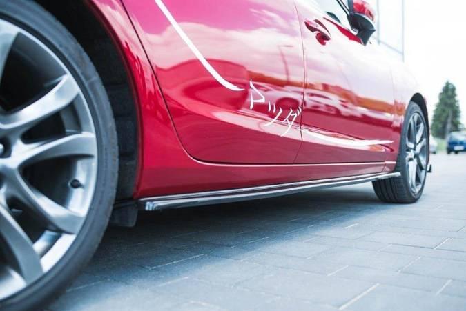 Dokładki progów Maxton Mazda 6 GJ (MK3) Polift (czarny połysk)