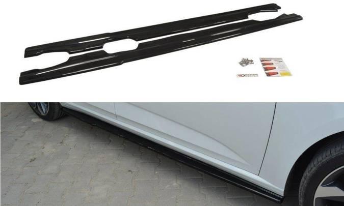 Dokładki progów Maxton Renault Megane MK4 Hatchback (czarny połysk)