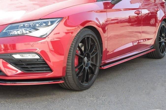 Dokładki progów Maxton V3 Seat Leon Cupra MK3 / FR Polift (czarny połysk)