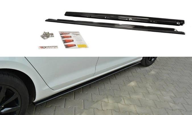 Dokładki progów Maxton Volkswagen Golf MK7 Standard (czarny połysk)