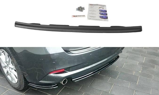 Splitter tylny srodkowy Maxton Mazda 3 BM (MK3) Polift (bez dyfuzora) (czarny mat)