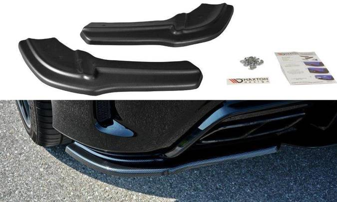 Splittery tylne boczne Maxton Mercedes A W176 AMG Polift (czarny mat)
